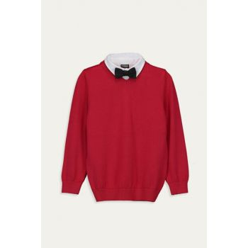 Boy Red Hpm Sweater And Bow Tie 9W6024Z1