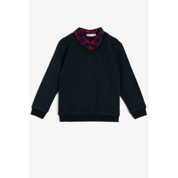Navy Blue Children Sweater 0KKB96880OT