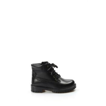 Genuine Leather Black Boys Boots & Bootie 1875714