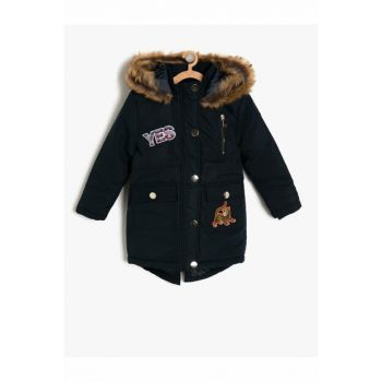 Navy Blue Girls Coat 9KKG07402OW