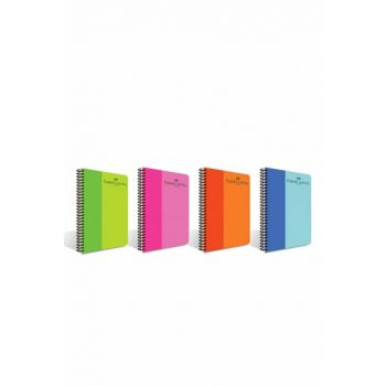Faber Castell PP Cover BiColor Spiral 160 Sheets Striped