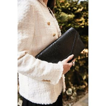 Black Women's Portfolio & Clutch Bag K35990440