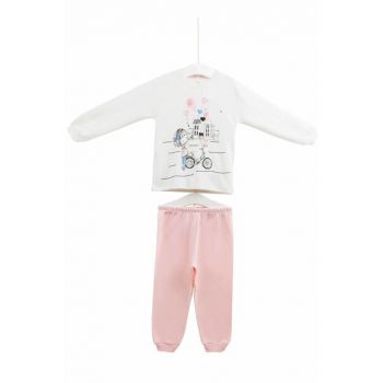 Ecru Girls' Sleepwear Set AZZ009406