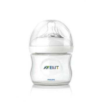 Natural Glass Feeding Bottle 0 Months + 120 ml Single / Scf671-17 8710103576686