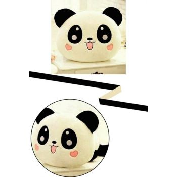 Panda Figured Heart Cheeked Cute Plush Pillow Tiny Puppy Panda Design Decorative Pillow PRA-534589-2568