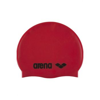 Unisex Bathing & Sea Goggles - Classic Silicon Red Swimming Cap - 9166245
