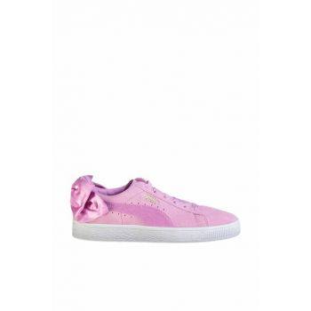 Genuine Leather Women Sport Shoes - Suede Bow Jr - 36731605
