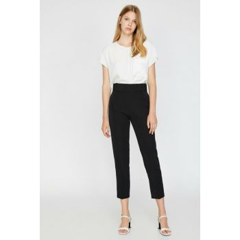 Women Black Straight Cut Trousers 0KAK43723EW