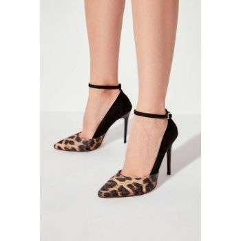 Black Suede Women Heels Shoes TAKAW20TO0078