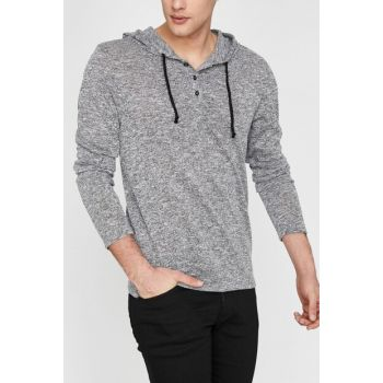 Men's Gray Sweater 9YAM91317NK
