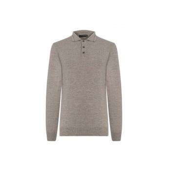 Men's Mink Polo Collar Pullover 343953