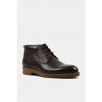 Genuine Leather Brown Men Boots & Bootie 02BOH148740A480