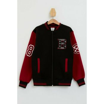 College Cardigan with Snaps N0661A6.19WN.BK23
