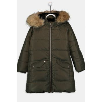 Girl's Khaki Coat 9W6246Z4