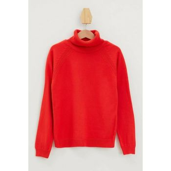 Red Girl Child Half Turtleneck Sweater L0116A6.19AU.RD166