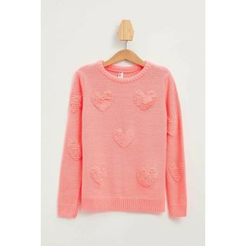 Pink Girl Patterned Sweater K9524A6.19AU.PN351