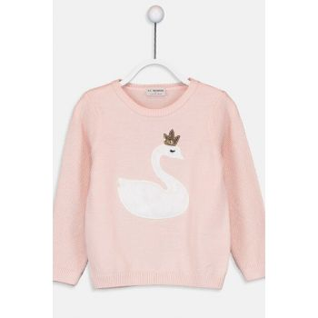 Girl's Salmon Dht Sweater 9W5032Z4