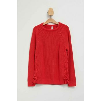 Knitted Sweater With Lace As K9523A6.19AU.RD99