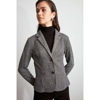 Gray Classic Knitted Jacket TWOAW20CE0368