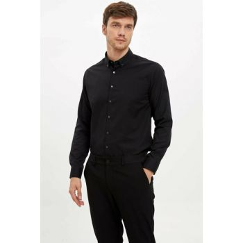 Men's Black Long Sleeve Shirt L5292AZ.19AU.BK27