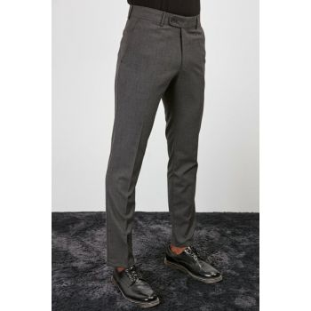 Anthracite Men's Slim Fit Trousers TMNAW20PL0458