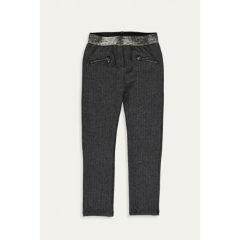 Girl's Anthracite Jacquard Mhh Trousers 9WO256Z4