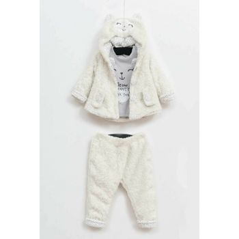 Y-London Baby Girl Welsoft Cardigan Sweatshirt Pants 3-Piece Suit 5y389 YK19W502-5389