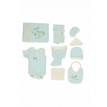 Baby Girl Hospital Outlet 10s Layer Set Water Green T575 BBBKT575suyesil