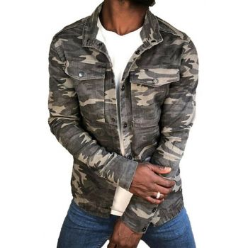 Men's Camouflage Denim Jacket Slim Fit RPBLC3511