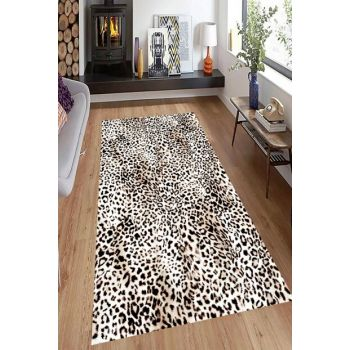 Leopard Patterned Digital Printed Carpet RSP001528