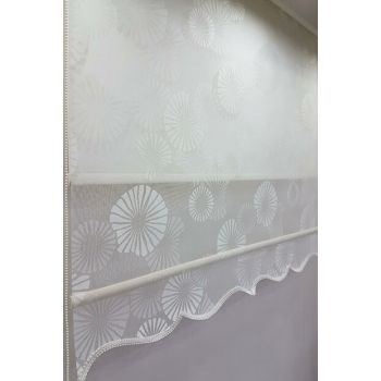 180X260 Double Mechanism Tulle Curtain and Roller Blinds MT1094 8605480901770