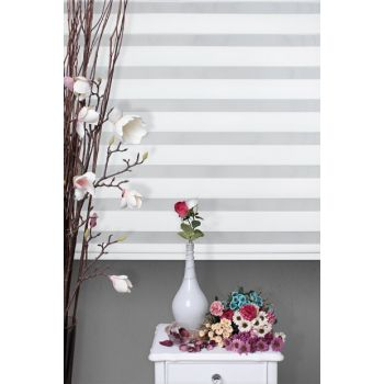 Zebra Roller Blinds White + Skirt Slice Gift Z-75V01