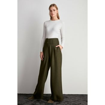 Khaki Loose Trousers TWOAW20PL0506
