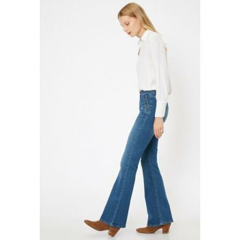 Women's Blue Victoria Jean Pants 0KAK47282MD