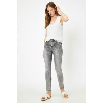 Women's Gray Jean Trousers 8YAL41356MD