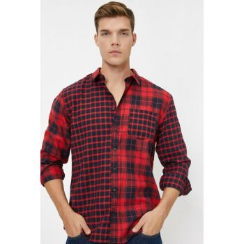 Men's Red Check Shirt 0KAM61026BW