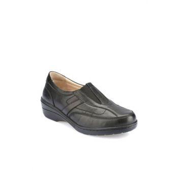 Genuine Leather Black Women Shoes 000000000100331076