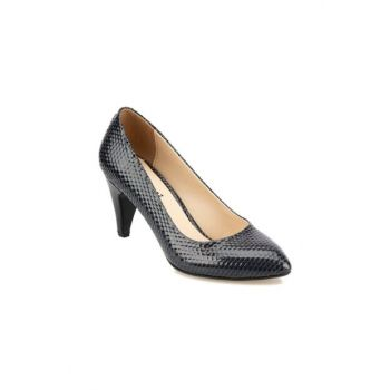 Navy Blue Women's Heeled Shoes 92.309023YZ