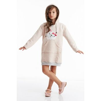 Silvery Rabbit Hooded Girl Dress CFF-19K1-003