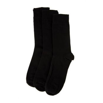 Black Men's Basic 3 Pack Socks TMNAW20CO0036