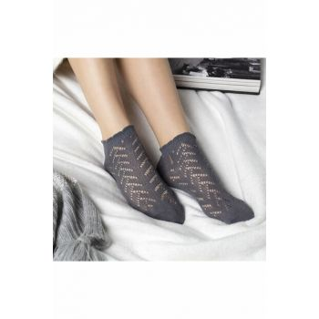 Fishnet Booties for Women - Anthracite 34319