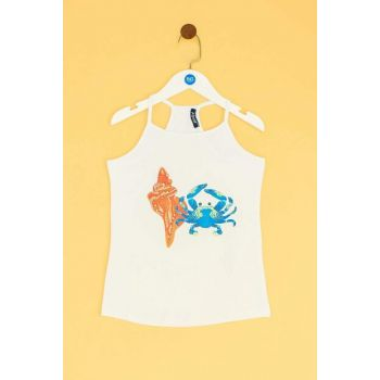 Girls' White Tank Tops 19SS1TJ4541