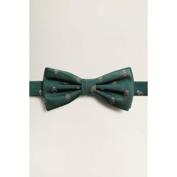 Men's Pastel Green Jacquard Silk Bow Tie 53060850