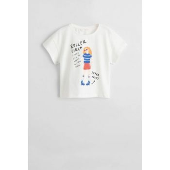 Girls' patterned cotton t-shirt 53040692