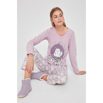 Lila Animal Printed Pajama Set THMAW20PT0256
