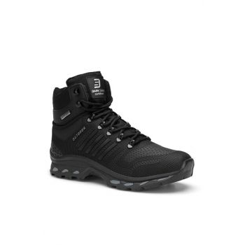Black Unisex Outdoor Trekking Boots DS.1820