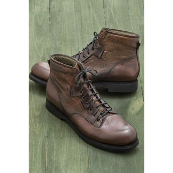 EVRA Genuine Leather Brown Men Boots 18KSEMC-5743