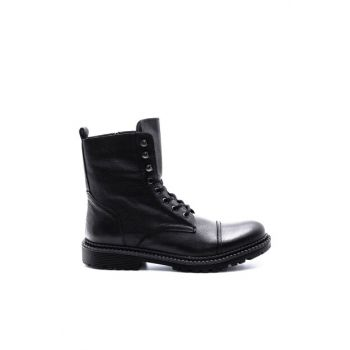 Genuine Leather Men Black Boots 19WFD3471FT