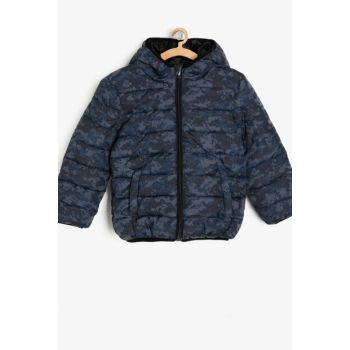 Gray Boy Camouflage Patterned Coat 9KKB26671OW