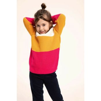 Mixed Girl Kids Color Block Sweater K9209A6.18CW.KR3